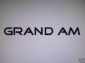 GRAND AM WINDSHIELD DECAL BANNER