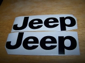 JEEP FENDER DECAL STICKER SET OF 2 WRANGLER RUBICON TJ JK