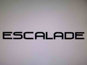 "ESCALADE WINDSHIELD DECAL BANNER VINYL STICKER 4"" X 46"""