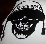 BLACK OPS SKULL DECAL LARGE