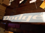 Dodge WINDSHIELD DECAL BANNER STICKER CHOOSE COLOR AND SIZE