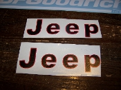 JEEP FENDER DECAL SET WRANGLER CJ YJ SCRAMBLER CHOOSE 2 COLORS