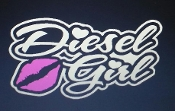 DIESEL GIRL VINYL DECAL STICKER CHOOSE SIZE & COLORS