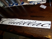 CADILLAC WINDSHIELD DECAL BANNER VINYL STICKER CHOOSE COLOR