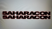 JEEP SAHARACON HOOD VINYL DECAL SET CHOOSE 2 COLORS