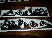 JEEP WRANGLER MOUNTAINS HOOD DECAL SET JK