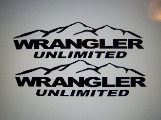 Jeep Wrangler Unlimited Fender Decals With Mountains
