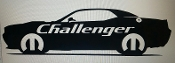 CHALLENGER W/ MOPAR LOGO & TEXT VINYL STICKER DECAL CHOOSE COLOR