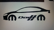 DODGE DART W/ MOPAR LOGO & TEXT VINYL STICKER DECAL CHOOSE COLOR