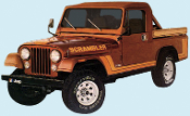 JEEP SCRAMBLER HOOD DECAL SET OF 2 CHOOSE COLOR/COLORS