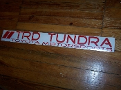 TRD TUNDRA WINDSHIELD VINYL DECAL STICKER BANNER