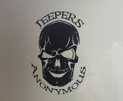 JEEPERS ANONYMOUS SKULL VINYL DECAL STICKER