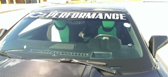 CHEVROLET BOWTIE PERFORMANCE WINDSHIELD VINYL DECAL BANNER