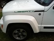 JEEP LIBERTY HOOD DECAL SET