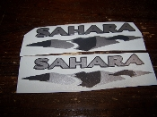 JEEP SAHARA FENDER DECALS CHOOSE 2 COLORS JK TJ YJ