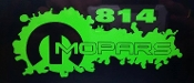 814 MOPARS WINDOW DECAL CHOOSE COLOR AND SIZE