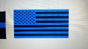 AMERICAN FLAG BLUE VINYL DECAL STICKER LAW ENFORCEMENT SUPPORT