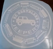 KC NORTHLAND JEEPERS MEMBER VINYL DECAL STICKER