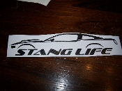 2010-2014 STANG LIFE WINDOW BANNER STICKER DECAL CHOOSE COLOR