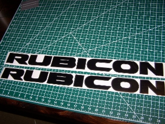 Jeep Rubicon 10th Anniversary Wrangler Hood Decal Set