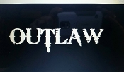 OUTLAW CAR GROUP SMALL VINYL DECAL STICKER