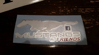 MUSTANGS & FRIENDS WINDOW BANNER STICKER DECAL CHOOSE COLOR
