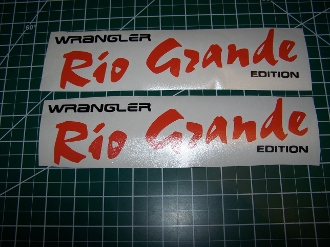 JEEP WRANGLER RIO GRANDE EDITION VINYL DECAL SET 2 COLORS