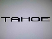 "TAHOE WINDSHIELD DECAL BANNER VINYL STICKER 4"" X 46"""