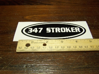 FORD 347 STROKER OVAL DECAL