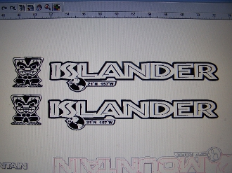 custom vinyl lettering jeep wrangler islander mountain road decal set 1176