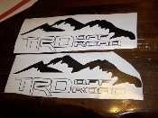 TRD OFF ROAD BEDSIDE / WINDOW STICKER VINYL DECAL SET OF 2
