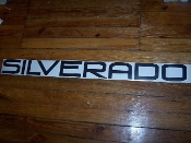 SILVERADO WINDSHIELD / WINDOW DECAL BANNER VINYL STICKER