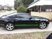 MUSTANG ROCKER PANEL STRIPE KIT 2005-UP CHOOSE COLOR & TEXT