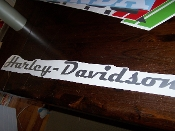 HARLEY-DAVIDSON WINDSHIELD / WINDOW VINYL DECAL STICKER BANNER