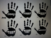 JEEP WAVE DECAL VINYL DECAL STICKER CHOOSE COLOR AND BODY CODE