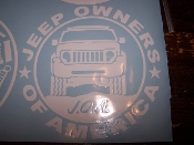 JEEP OWNERS OF AMERICA MEMBERS LIBERTY KK VINYL DECAL STICKER