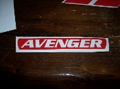 AVENGER BRAKE LIGHT VINYL DECAL STICKER CHOOSE COLOR & TEXT