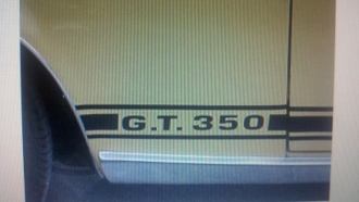 SHELBY MUSTANG G.T. 350 DECAL SET OF 2