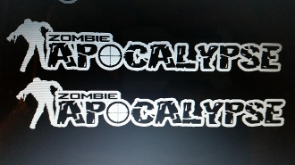 JEEP WRANGLER ZOMBIE APOCALYPSE HOOD DECAL SET