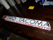 TRD TACOMA WINDSHIELD VINYL DECAL STICKER BANNER