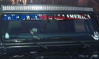Jeep Owners Of America Windshield Vinyl Decal Sticker Banner