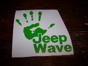 JEEP WAVE TEXT DECAL VINYL DECAL STICKER CHOOSE COLOR & SIZE