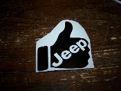 JEEP THUMBS UP VINYL DECAL STICKER YOU LIKE THIS