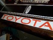 TOYOTA WINDSHIELD WINDOW DECAL BANNER CHOOSE SIZE & COLOR