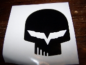"CORVETTE RACING ""JAKE"" SKULL VINYL DECAL STICKER"