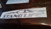 STANG LIFE WINDOW BANNER STICKER DECAL FOX BODY COWL HOOD & WING