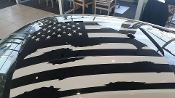 2017 2016 2015 FORD MUSTANG DISTRESSED AMERICAN FLAG FOR ROOF