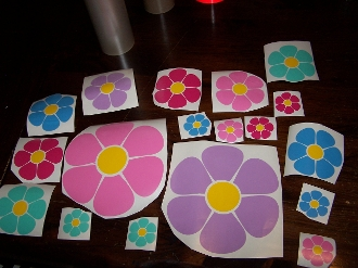 FLOWER DECAL KIT FOR ANY VEHICLE,SMOOTH SURFACE CHOOSE COLORS