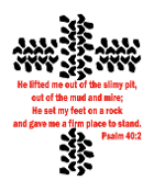 Two Color Tire tracks decal with verse Psalm 40:2 VINYL DECAL