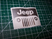 JEEP WRANGLER BULLETS AND HOLES GRILL DECAL STICKER